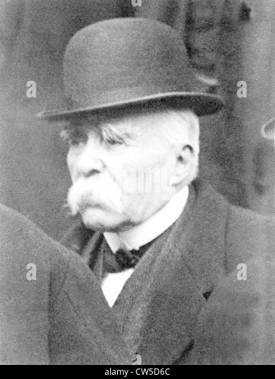 Portrait of Georges Clemenceau - Stock Image