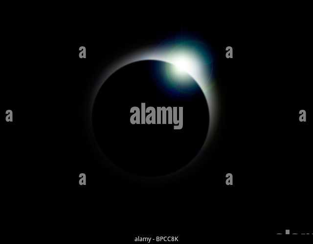 A solar eclipse - Stock Image