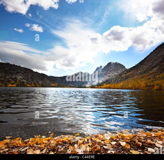 Picturesque rural landscapes on Silver lake - Stock-Bilder