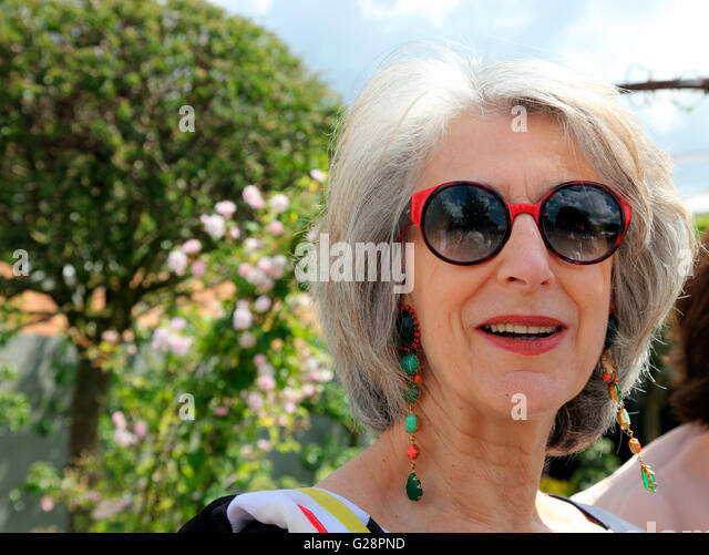 Actress Maureen Lipman at RHS Chelsea Flower Show 2016 - Stock-Bilder