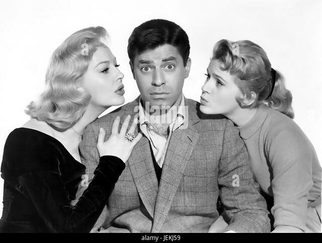 ROCK-A-BYE BABY 1958 Paramount Pictures film with from left: Marilyn Maxwell, Jerry Lewis , Connie Stevens - Stock-Bilder