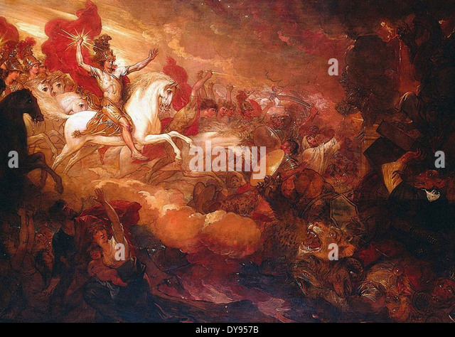 Benjamin West Destruction of the Beast and the False Prophet - Stock Image