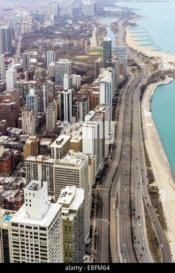 Chicago, Illinois, United States of America Gold Coast Of Chicago - Stock Image