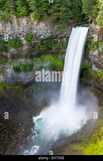 Brandywine Falls (70 meters, 230 feet), Brandywine Falls Provincial Park, British Columbia, Canada - Stock Image