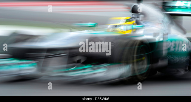Nico Rosberg (GER), Mercedes F1 W04 during the Spanish Formula One Grand Prix 2013 - Stock-Bilder