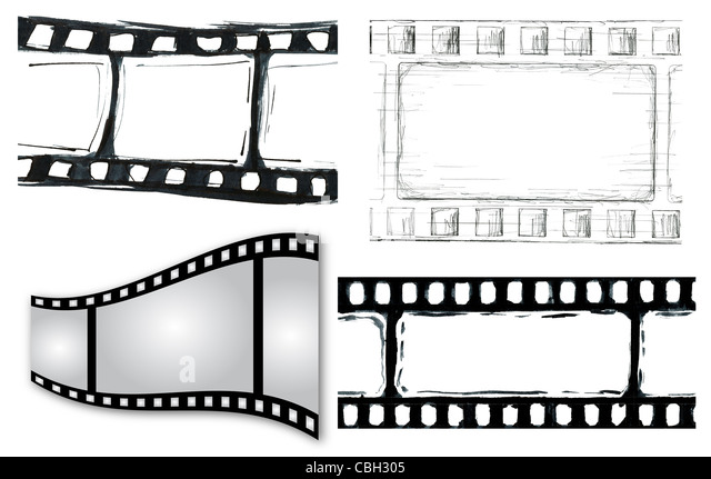 Grunge film strip illustrations for your design - Stock-Bilder