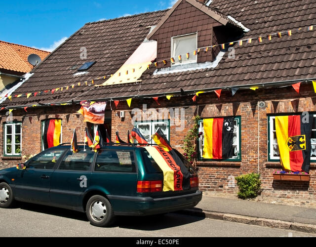Football Crazy in Glückstadt, Schleswig Holstein, Germany - Stock Image