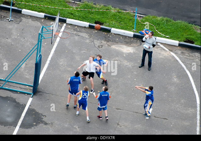Kid's basketball - Stock Image