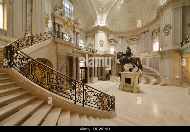 Berlin. Germany. Entrance hall of the Bode Museum. - Stock Image