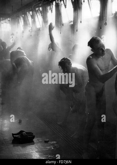 Showering black and white stock photos images alamy for J pickford bathrooms