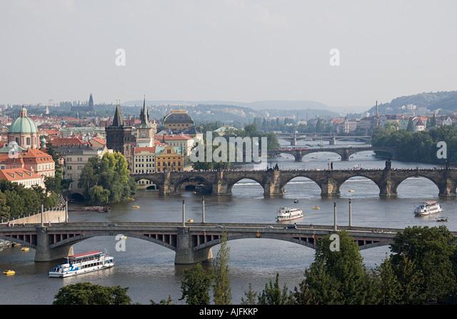 Bridges over river vltava - Stock-Bilder