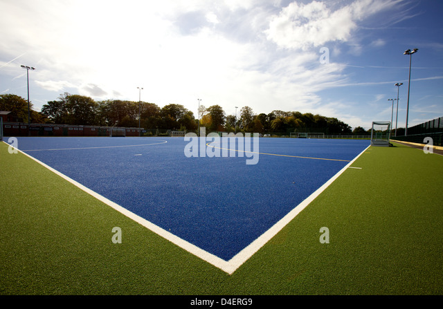 Hockey pitch image by Vicky Matthers/iconphotomedia - Stock Image