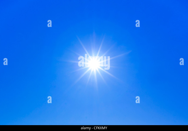 Sun star burst with ray rays - Stock Image