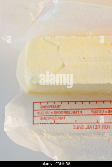 Close-up of fresh butter - Stock Image