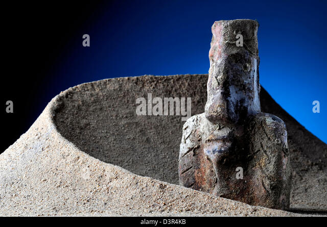 antique nuragic vase - Stock Image