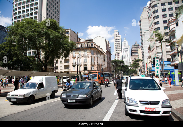 Traffic in Sao Paulo, Brazil - Stock Image