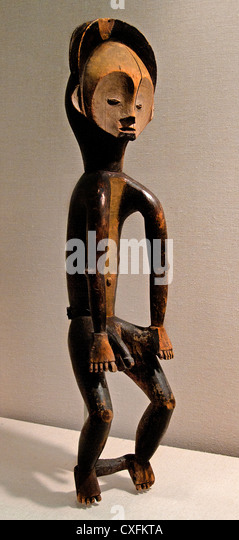 Male Ofika ( Okifa ) 19th century  Democratic Republic of the Congo Lomami River region Mbole peoples 82 cm Africa - Stock-Bilder