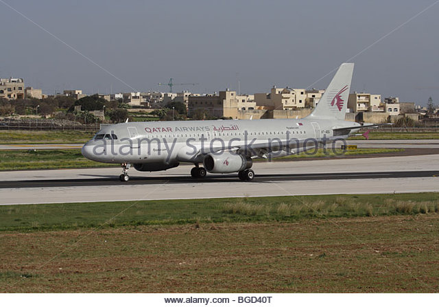 Qatar Airways Airbus A320 - Stock Image