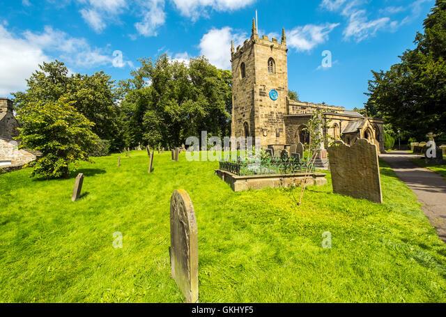 Eyam church, Eyam,Derbyshire - Stock Image