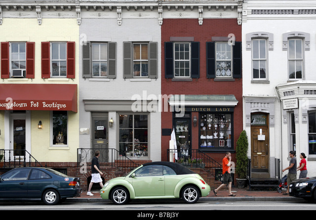 M Street, Georgetown, Washington D.C., USA - Stock Image