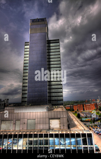 The CIS Tower building, headquarters of the Cooperative Insurance Society Manchester England UK - Stock Image