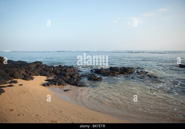 Beach and sea in hawaii - Stock Image