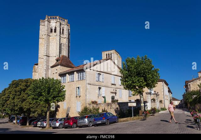 France, Gers, La Romieu, stop on the Way of St James, listed as World Heritage by UNESCO - Stock Image