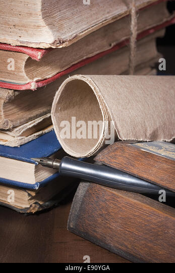 Archival documents - Stock Image