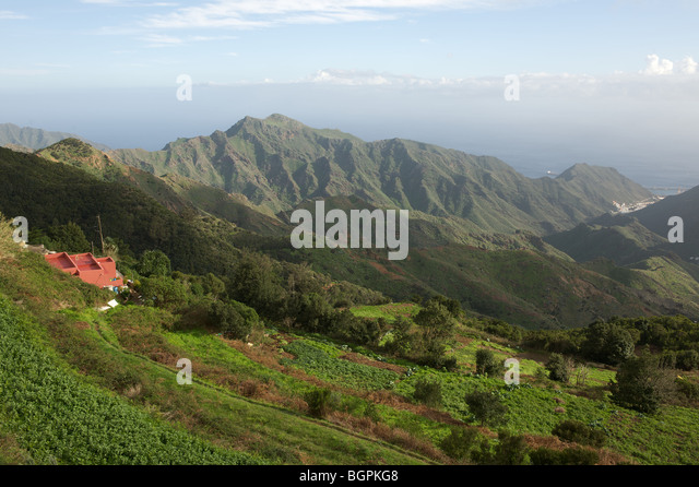 Spain Tenerife Canary Islands Anaga Mountains viewpoint - Stock Image