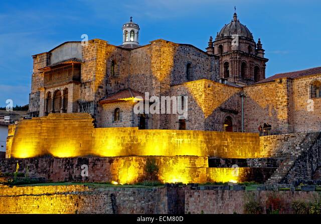 Coricancha, Convento de Santo Domingo del Cusco, Cusco, Peru - Stock Image