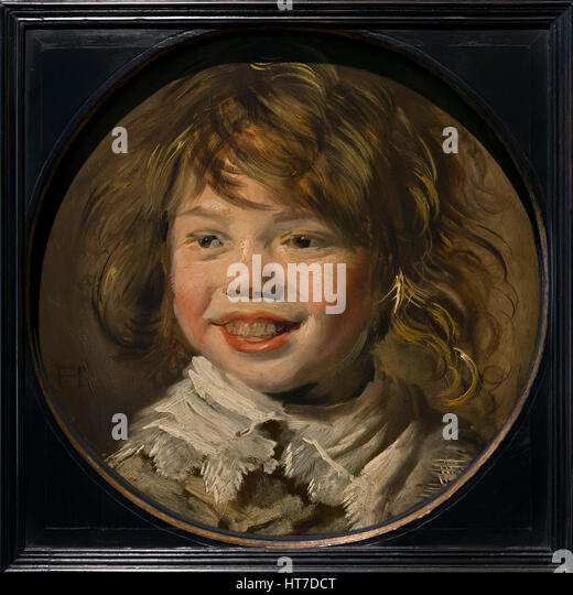Laughing Boy, by Frans Hals, circa 1625, Royal Art Gallery, Mauritshuis Museum, The Hague, Netherlands, Europe - Stock Image
