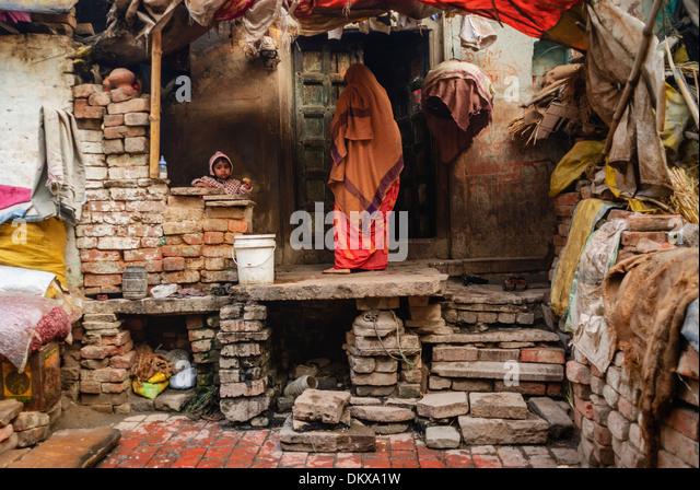 Street Scene, Varanasi India - Stock-Bilder