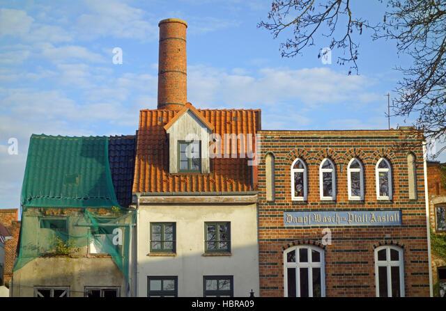 steaming, washing, ironing, institution Wismar - Stock Image