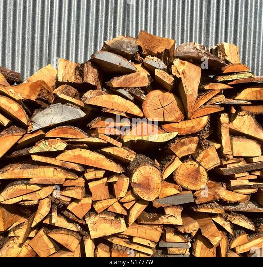 Stacked lumber - Stock-Bilder