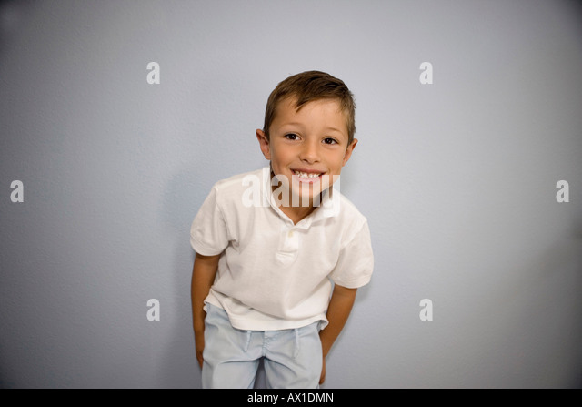 Boy Smiling at Camera - Stock-Bilder