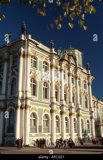 Russia former Soviet Union St. Petersburg Hermitage Winter Palace Peter the Great rooms art items - Stock Image
