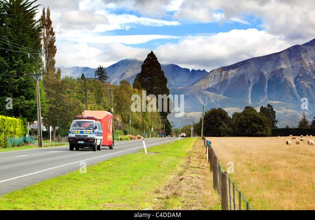 Travel around New Zealand Country side - Stock-Bilder
