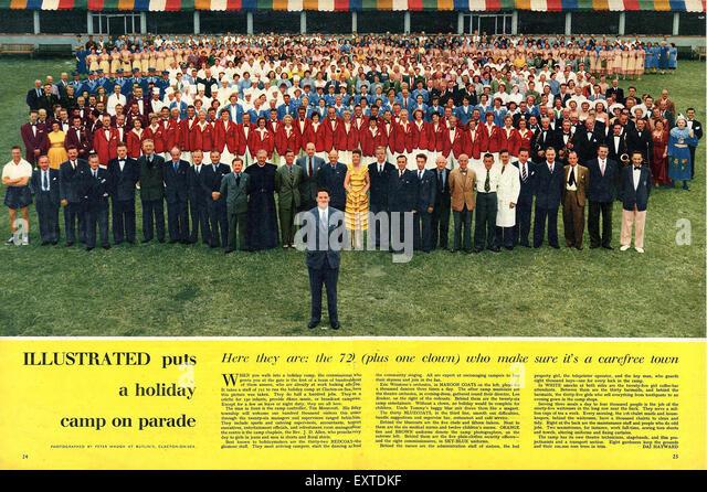 1950s UK Illustrated Magazine Plate - Stock Image