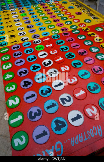 Gambling game in Acapulco, Mexico - Stock Image