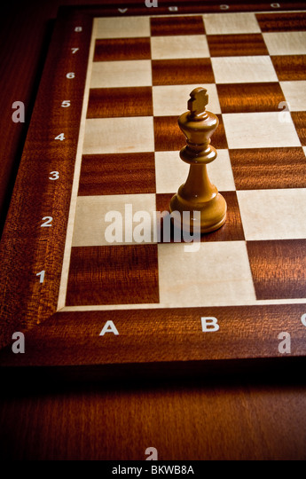 chess King piece - Stock Image