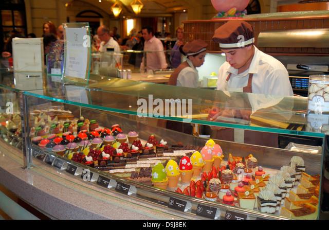 Nevada Las Vegas The Strip South Las Vegas Boulevard Bellagio hotel casino Jean-Philippe Patisserie pastries sweets - Stock Image
