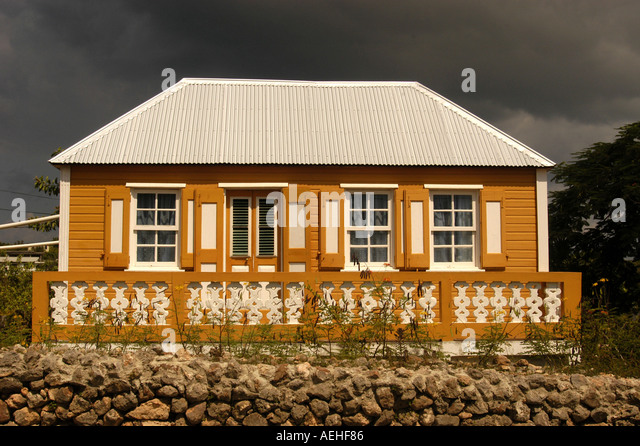 Anguilla Colorful Traditional House - Stock Image