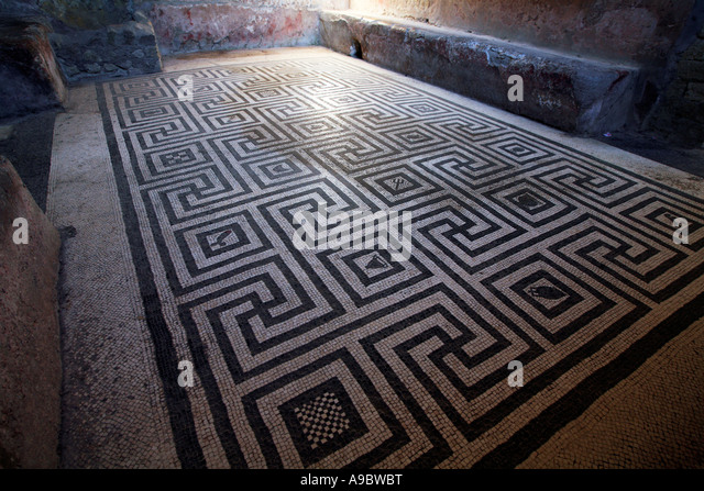 Floor Mosaic Pompeii Stock Photos Amp Floor Mosaic Pompeii