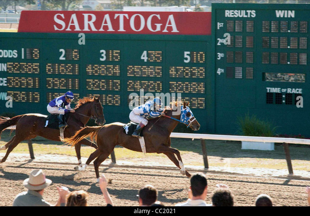 HORSE RACING SCENE SECRETARIAT (2010) - Stock Image