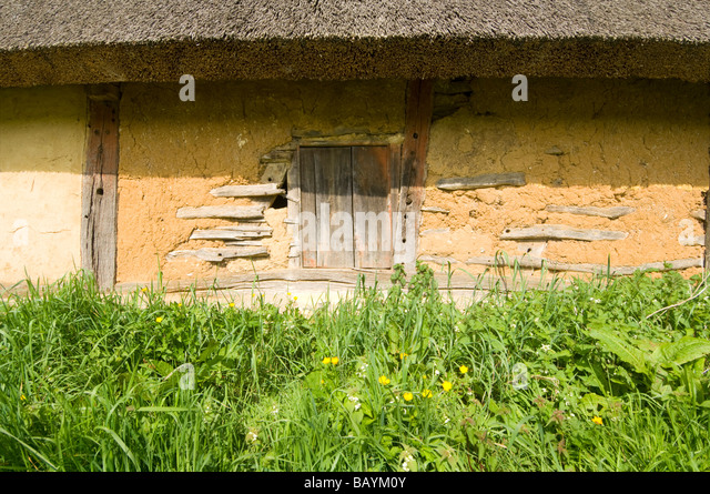Wattle and Daub Barn Normandy France - Stock Image