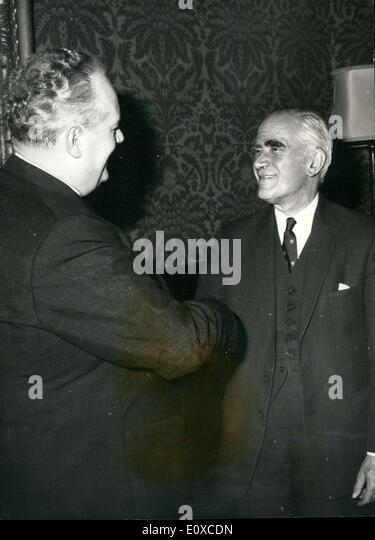Feb. 21, 1966 - German Minister of Economic Affairs - meets Mr. Stewart.: The Federal German Minister of Economic - Stock Image