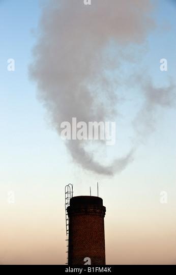 Smoke Pollution China - Stock Image