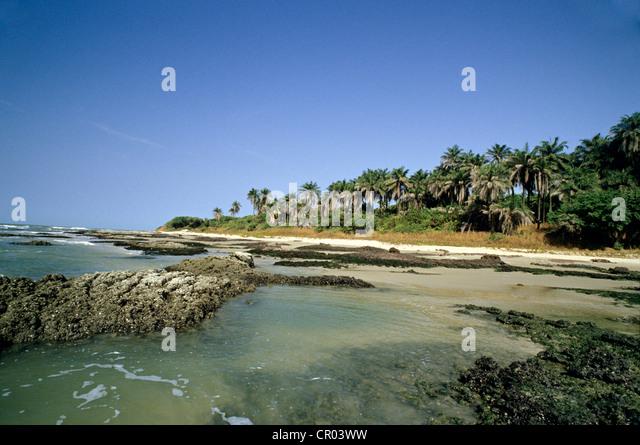 Senegal, beach at Cap Skirring - Stock Image