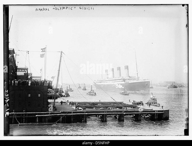 Arrival OLYMPIC, 1911 (LOC) - Stock Image