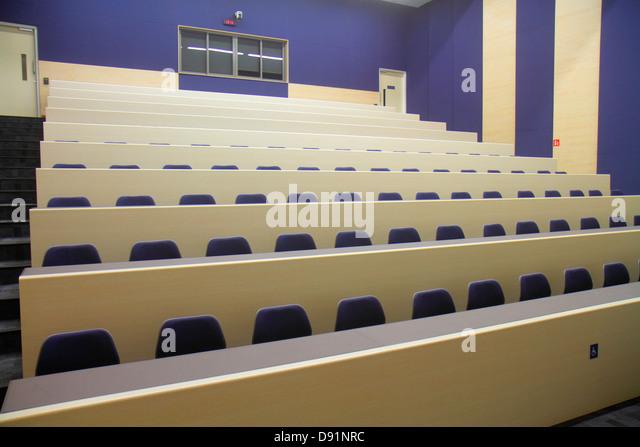 Singapore National University of Singapore NUS University Town school student campus lecture hall auditorium seats - Stock Image